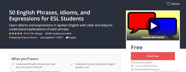 english course udemy