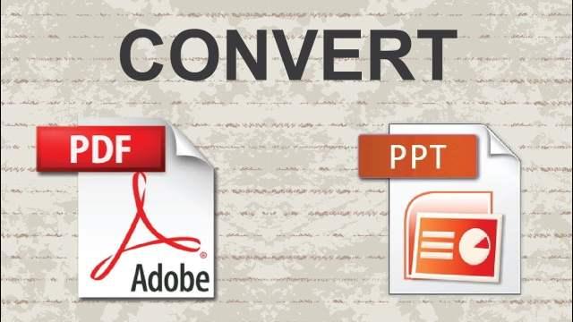 تحويل ملفات ال PDF الي PowerPoint