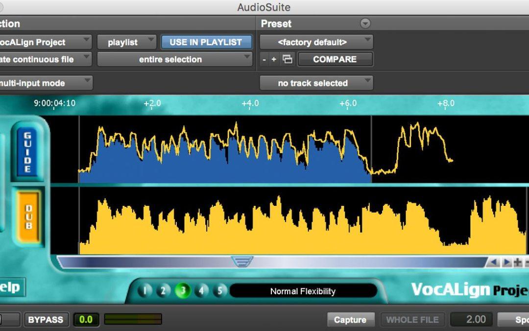 VocALign PRO V4 – Synchro arts Comment recaler les pistes de voix ?