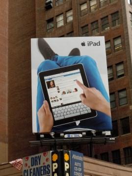 Original iPad billboard New York