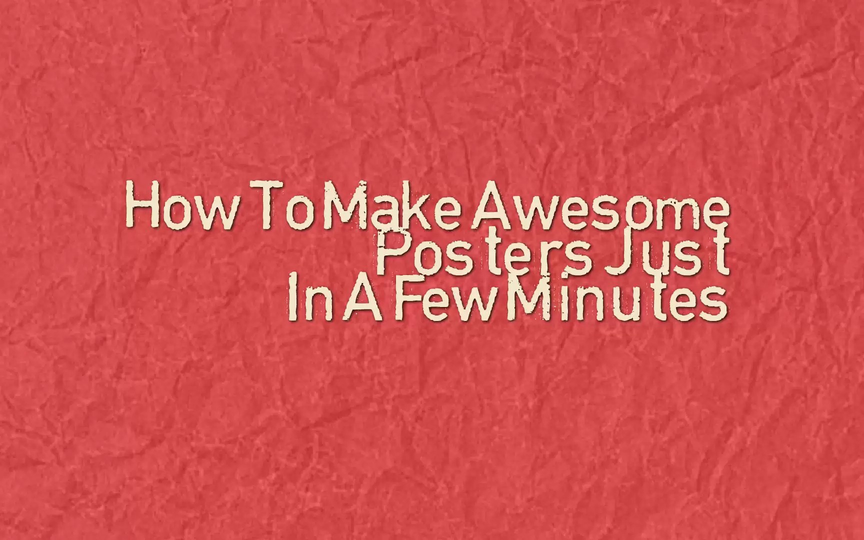 How To Make Awesome Posters Just In A Few Minutes [DesignCap Review]
