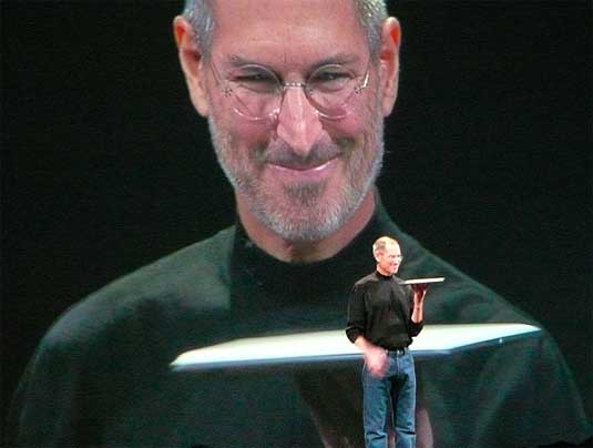 Steve Jobs unveils the MacBook Air at Macworld Expo 2008