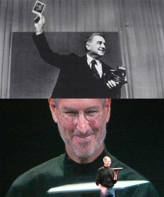 Steve Jobs and Edwin Land