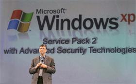 Bill Gates introduces Windows XP Service Pack 2