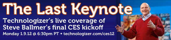 Steve Ballmer CES 2012 Microsoft keynote live coverage