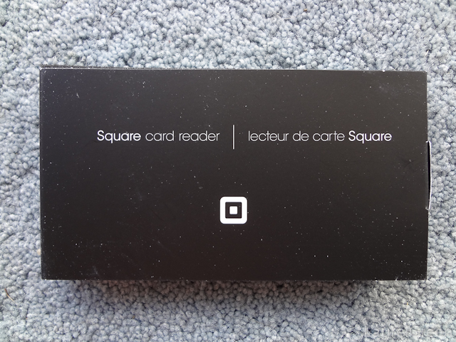 the box for the square card reader