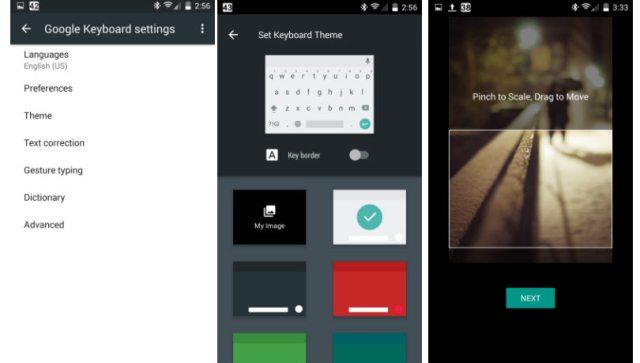 Android Nougat keyboard updates