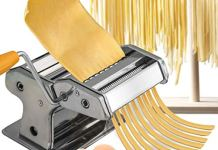 Jukkre Noodle Maker Homemade Pasta Roller Maker Spaghetti Noodle Machine Cutter Stainless Steel Manual