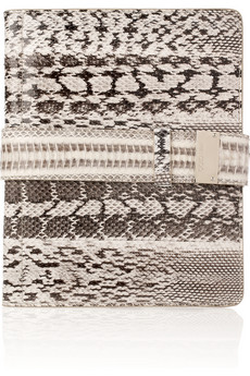Jimmy Choo Ripley elaphe snakeskin iPad case
