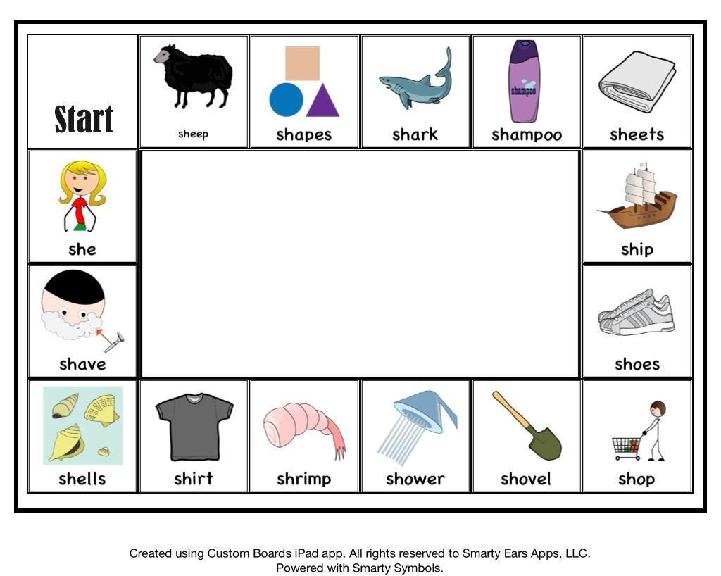 Articulation Sh Worksheets