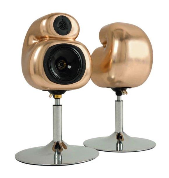 D&W Aural Pleasure Speakers Cast in Gold