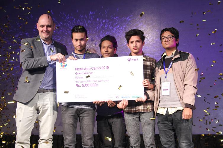 एनसेल एप क्याम्पमा अन्नेम्ड(भिआर)ले सर्वोत्कृष्ट विजेताको उपाधी हात पार्यो