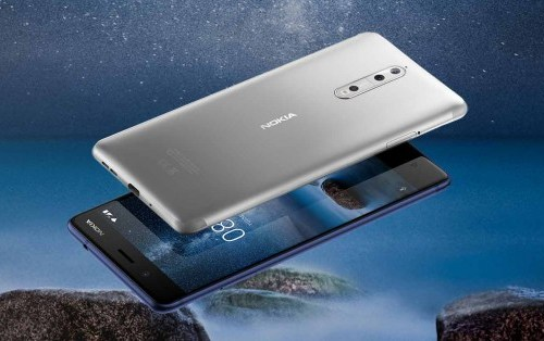 नोकिया ८ स्मार्टफोनको फ्रन्ट र रियर क्यामराबाट एकैसाथ फोटो खिच्न सकिने