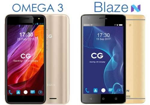 सिजी मोबाइल्सको ओमेगा ३ र ब्लेज एन स्मार्टफोन, बजेट फोनमा इन्फिनिटी डिस्प्ले
