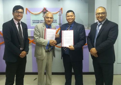 नेशनल लाईफ इन्स्योरेन्स र गण्डकी विकास बैंक वीच बैंकासुरेन्स सम्बन्धि सम्झौता