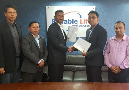 रिलायबल नेपाल लाइफ इन्स्योरेन्स एनसीएचएलसँग आबद्ध