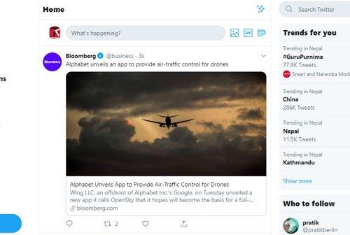 ट्विटरको नयाँ वेब इन्टरफेस डिजाइन सबैको लागि उपलब्ध, डार्क मोड अप्सन र नयाँ फीचरहरु