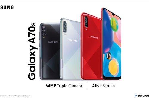 सामसङको नयाँ स्मार्टफोन ग्यालेक्सी ए७०एस बजारमा, ६४ मेगापिक्सेलको ट्रिपल रियर क्यामरा