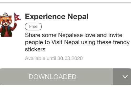 नेपाल भ्रमण वर्ष प्रबर्द्धन गर्न भाइबरमा स्टिकर उपलब्ध, स्टिकर प्रयोग गरेर नेपाल घुम्न बोलाउनुस्