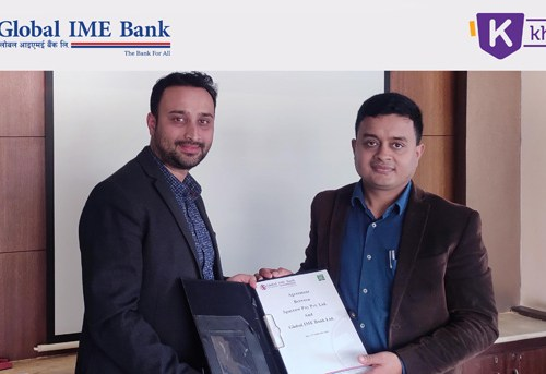 ग्लोबल आईएमई बैंक र खल्ती बीच डिजिटल भुक्तानीका लागि सहकार्य