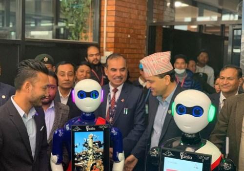 त्रिभुवन अन्तर्राष्ट्रिय विमानस्थलमा पर्यटकलाई सहयोग गर्न दुई वटा पर्यटन परी 'रोबोट'