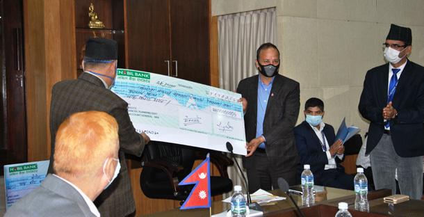 नेपाल टेलिकमले कोरोनाभाइरस संक्रमण रोक्न स्थापित सरकारी कोषमा १२ करोड रुपैयाँ दियो