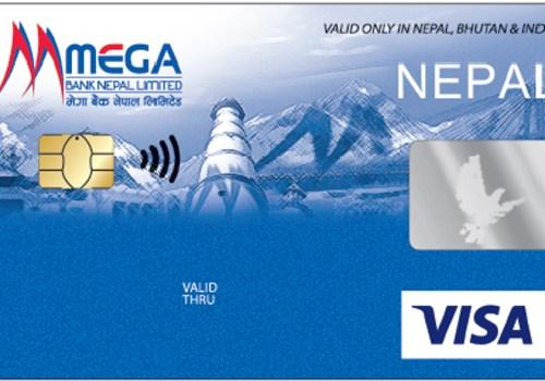 मेगा बैंकले ल्यायो कन्ट्याक्टलेस डेबिट कार्ड, पिन नराखी २ हजारसम्मको भुक्तानी गर्न सकिने