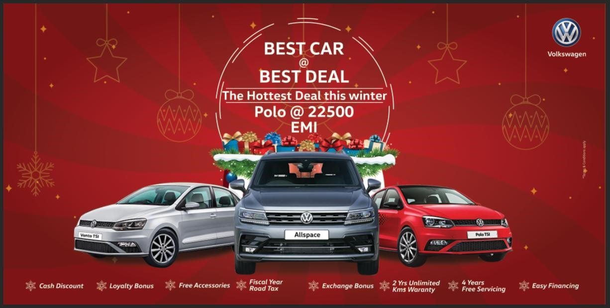 "Volkswagen introduce ""BEST CAR @BEST DEAL-The Hottest Deal This winter"" scheme"