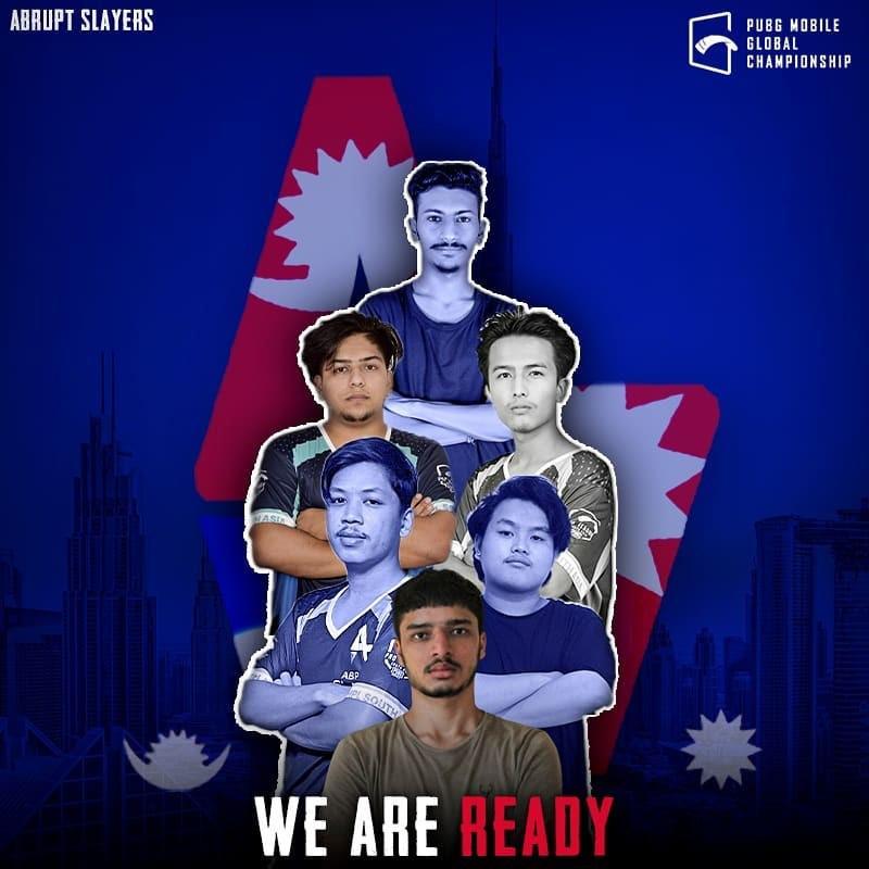 पब्जी मोबाइल ग्लोबल च्याम्पियनसिप खेल्न नेपाली टिम 'एएसएल' दुबई पुग्यो