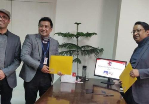 ग्लोबल आइएमई बैंक र स्मार्ट च्वाइस टेक्नोलोजिज बीच सम्झौता