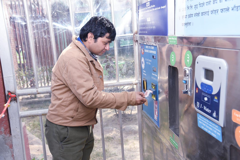 काठमाडौंका ३ स्थानमा स्मार्ट वाटर भेन्डिङ मेसिन संचालनमा
