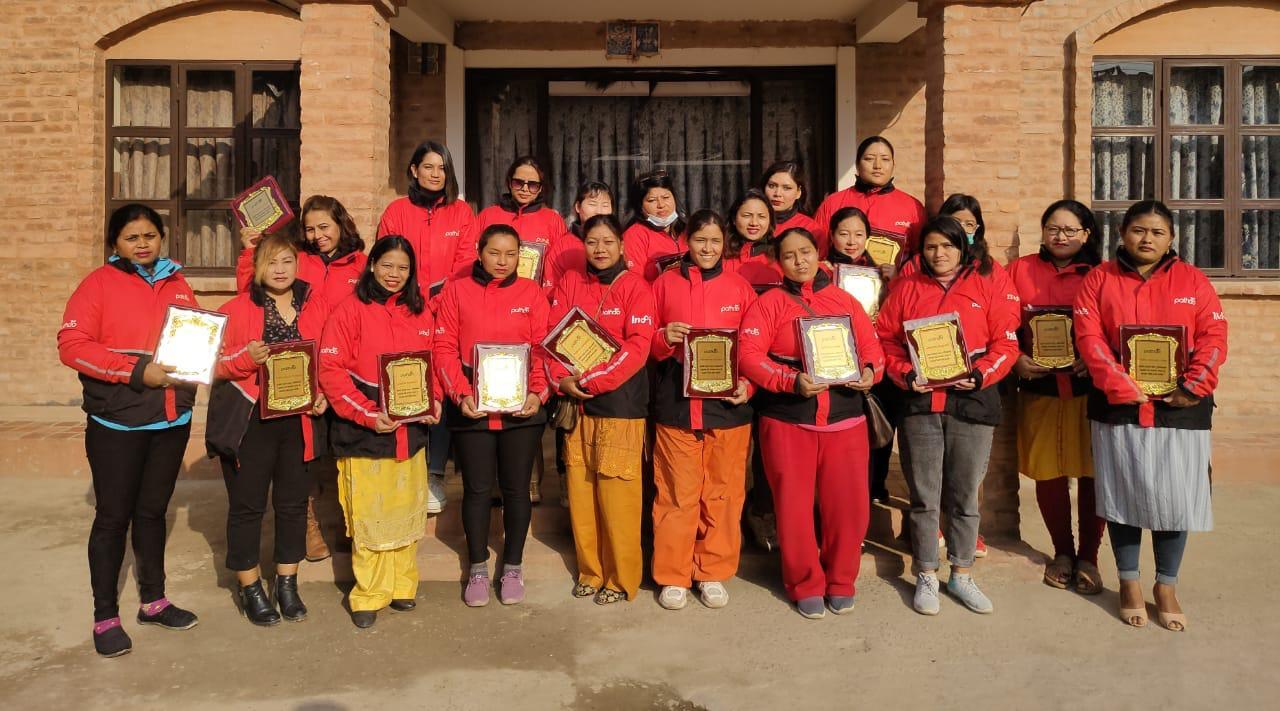 नारी दिवसमा पठाओद्वारा उत्कृष्ट २५ महिला राइडरलाई सम्मान, कमाउँछन मासिक करिब तीस हजार