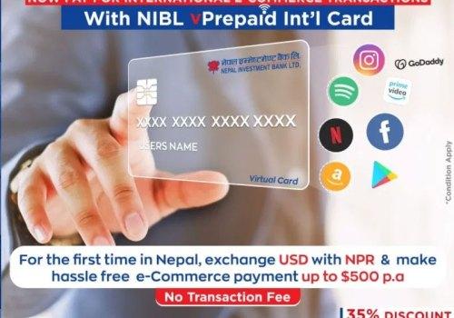 एनआईबीएलले ल्यायो भर्चुअल इन्टरनेशनल कार्ड, अन्तर्राष्ट्रिय वस्तु सेवा खरिदमा ३५ प्रतिशत छुट