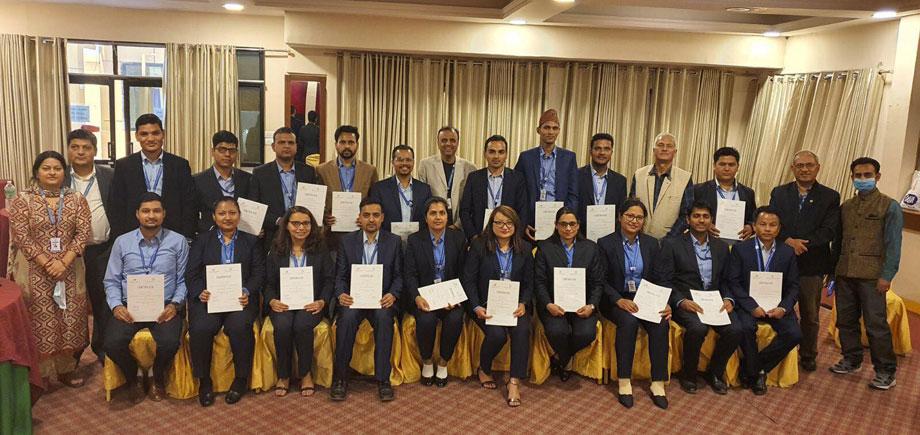 नेपाल दूरसञ्चार प्राधिकरणका नवनियुक्त कर्मचारीलाई सेवा प्रवेश तालिम