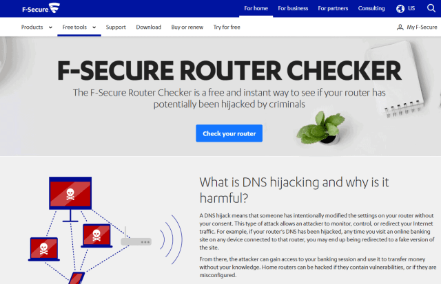Can routers get viruses? Check your router using F-Secure Router Checker!