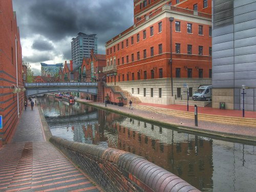 The canal in Birmingham