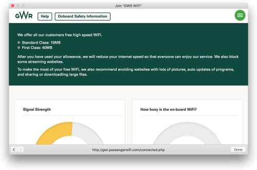 I've noticed that GWR (who were First Great Western) have started to limit their customers' use of wifi. Three years after free wifi was introduced on their high speed trains, they've realised that it's very popular and have implemented restrictions.