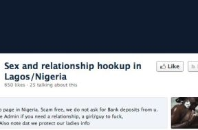 sex on Facebook