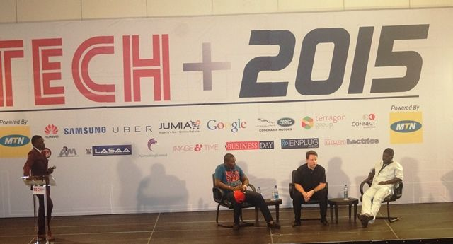Nicolas Martin, Chief Executive Officer (CEO) of Jumia Africa and other panelists at TECH+ in Lagos