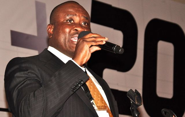 Mike Ikpoki, CEO of MTN Nigeria, delivers the keynote presentation today at TECH+ Conferences and Expo, which opened in Lagos