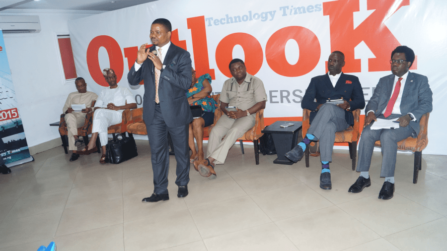 Cross section of speakers at Technology Times Outlook Review of Nigeria Cybercrimes Act 2015 held in Lagos