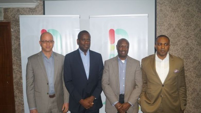 Mr Osondu Nwokoro (left), Mr. Kamar Abass and other key officials of NTEL at the media event held Thursday in Lagos