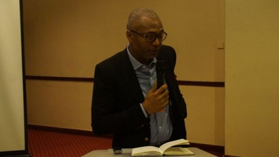 Mr Emeka Mba, Director General of National Broadcasting Commission (NBC) speaks at WACC 2015 in Lagos