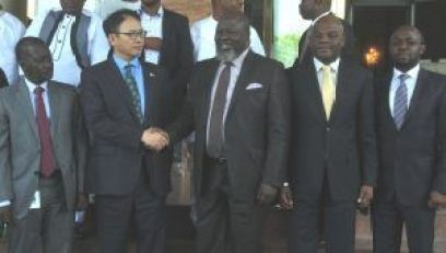 Managing Director/CEO, Galaxy Backbone Plc, Yusuf Kazaure (left); Country Director, Korea International Co-Operation Agency (KOICA), Mr. Sang-Hoon Jung; Minister of Communications Mr. Adebayo Shittu; Permanent Secretary, Federal Ministry of Communications, Arch. Sunny Echono and Director of e-Government, Mr. Tope Fashedemi seen Tuesday at the Stakeholders' Engagement Workshop on e-Government Master Plan 2020 organised by the Federal Ministry of Communications in Abuja