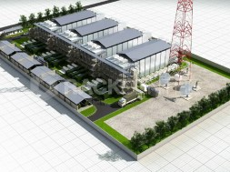 """Model of Rack Centre data centre which the company says is a state-of-the-art, Tier III Design Certified data centre offering carrier-neutral colocation services. The data centre sited in Lagos, which provides over 6,000 sqm (65,000sqft) of energy efficient and secure data centre space, allows companies """"to avoid fixed infrastructure investments and to leave the growing complexity of managing power and environmental issues to specialists"""", the company CEO, Ayotunde Coker says."""
