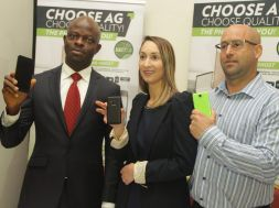 Boni Obieze, C.E.O, Ringo Communications, Tayshira Santamaria, Executive Head of Marketing, AG Mobile and Craig Herri, Sales&Product Manager,AG mobile, during the AG Mobile Press Briefing (12)