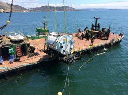 Microsoft's Project Natick vessel being deployed