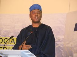 SENATE PRESIDENT, BUKOLA SARAKI, WHILE MAKING HIS REMARKS AT THE SOCIAL MEDIA WEEK (7)