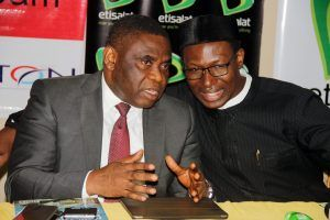 Tony-Ojobo Dir.-Public-Affairs-NCC-with -Gbenga-Adebayo Chairman-ALTON at the event
