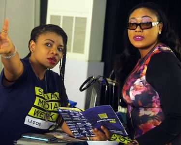 Tech-savvy: Female participants seen at 2016 Social Media Week Lagos